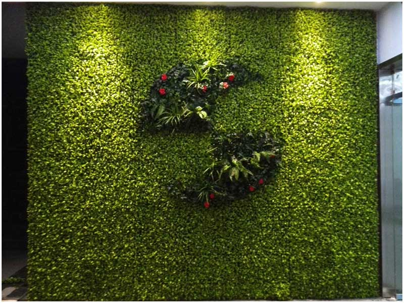 Artificial Hedge with DIY Design in our Office