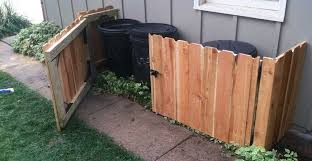 Using artificial hedges to hide your garbage cans