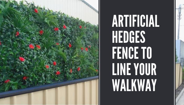 Artificial Hedges Fence to Line Your Walkway