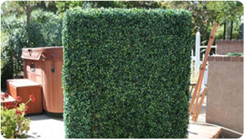 PROJECTS-artificial boxwood hedge stand